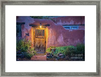 Twilight Santa Fe Framed Print