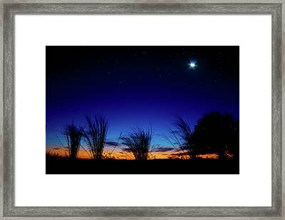 Twilight Silhouettes Framed Print