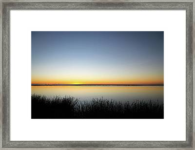 Twilight Stillness Down By The Beach Lagoon Framed Print