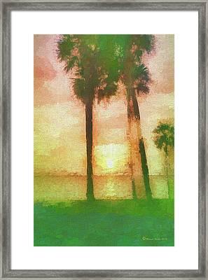 Twilight Sun Framed Print by Marvin Spates