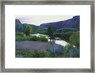 Twilight Taos Sold Framed Print by Cap Pannell