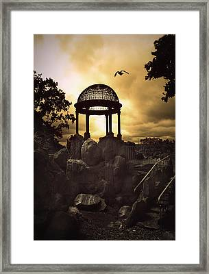 Twilight Temple Framed Print by Jessica Jenney
