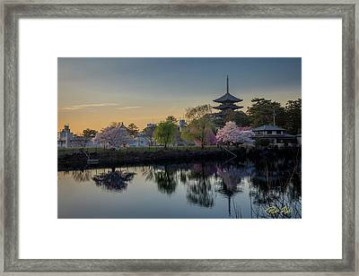 Framed Print featuring the photograph Twilight Temple by Rikk Flohr