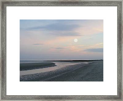 Twilight Time At The Shore Framed Print