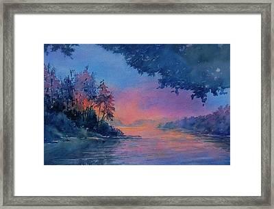 Twilight Time No 4 Eagle Lake Framed Print by Virgil Carter