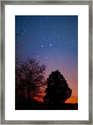 Framed Print featuring the photograph Twilight Transitions by Charles Warren