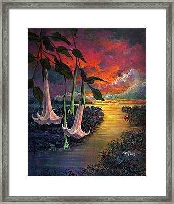 Twilight Trumpets Framed Print