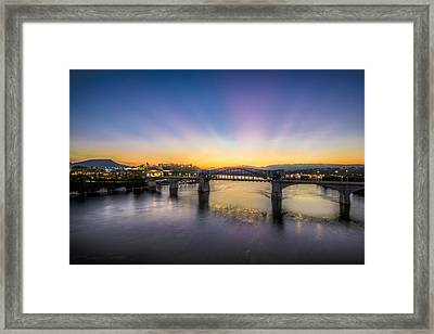 Twilight View, Chattanooga Framed Print