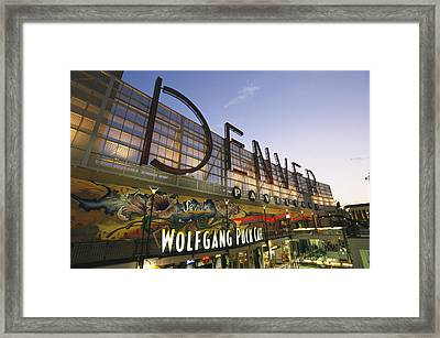 Twilight View Of The Denver Pavilions Framed Print by Richard Nowitz