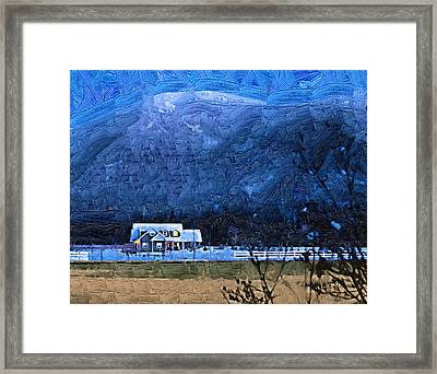 Twilight Winter Framed Print by Robert Bissett
