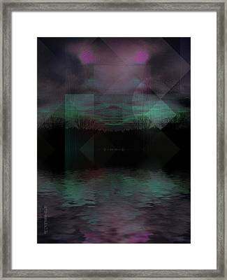Framed Print featuring the digital art Twilight Zone by Mimulux patricia no No