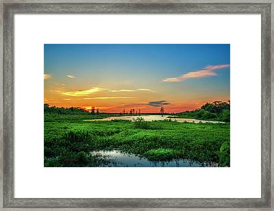 Framed Print featuring the photograph Twilights Arrival by Marvin Spates