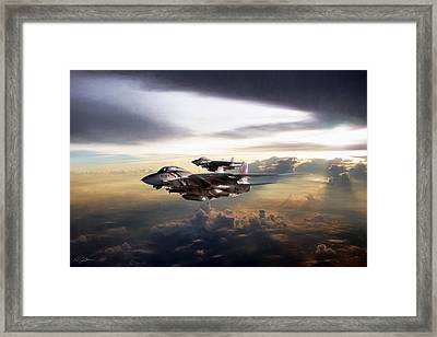 Twilight's Last Gleaming Framed Print by Peter Chilelli