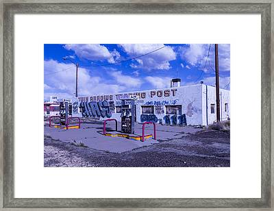 Twin Arrows Trading Post Framed Print