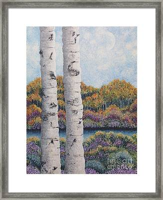 Twin Aspens Framed Print
