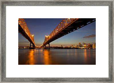 Framed Print featuring the photograph Twin Bridges by Evgeny Vasenev