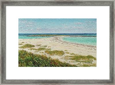 Twin Cove Framed Print