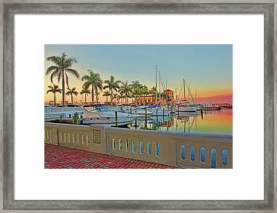 Twin Dolphin Marina Framed Print