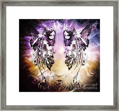 Twin Fairies 2 Framed Print