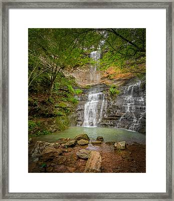 Twin Falls Framed Print by James Barber