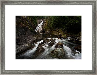 Twin Falls Landscape Framed Print by Mike Reid