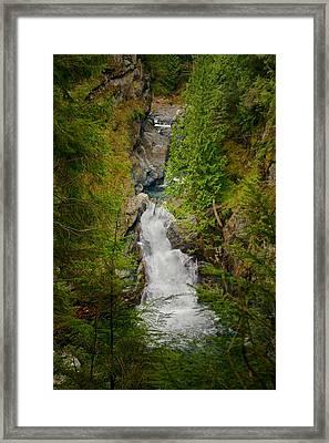 Twin Falls Snoqualmie River Washington Framed Print by Stacey Lynn Payne
