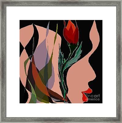 Twin Fire Flower Head 2 Framed Print by Navo Art