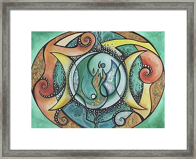 Twin Flame Framed Print by Michell Rosenthal