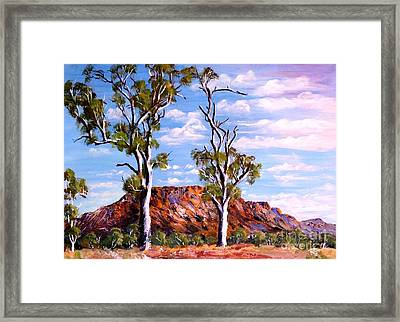 Twin Ghost Gums Of Central Australia Framed Print