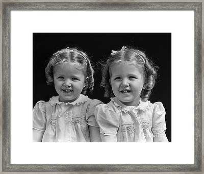 Twin Girls, 1930 Framed Print by H. Armstrong Roberts/ClassicStock
