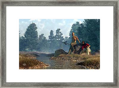 Twin Heroes Framed Print