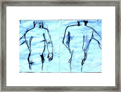 Twin Images Framed Print