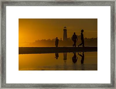 Twin Lakes Beach At Sunset Framed Print by Bruce Frye