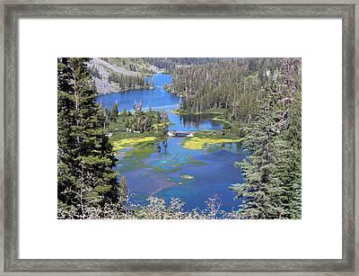 Twin Lakes Eastern Sierra Photography Framed Print