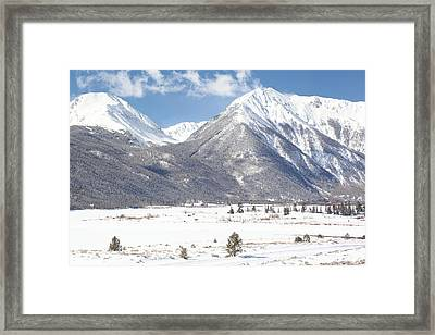 Twin Lakes Framed Print by Eric Glaser