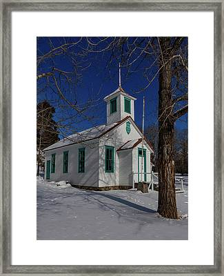 Twin Lakes School District No. 009 Established 1895 Framed Print