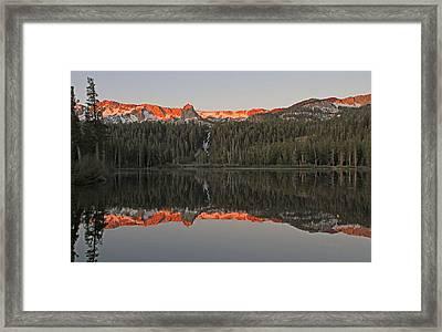 Twin Lakes Sunrise Framed Print