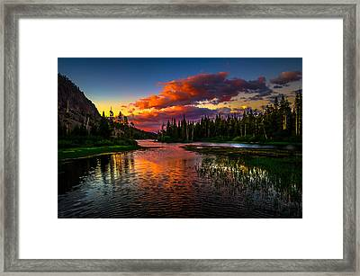 Twin Lakes Sunset Mammoth Lakes California Framed Print