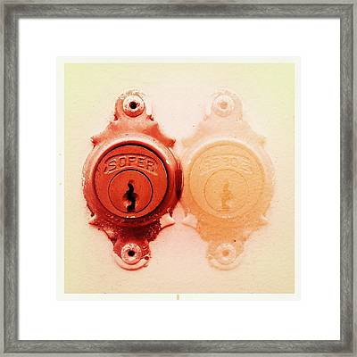 Twin Lock Framed Print