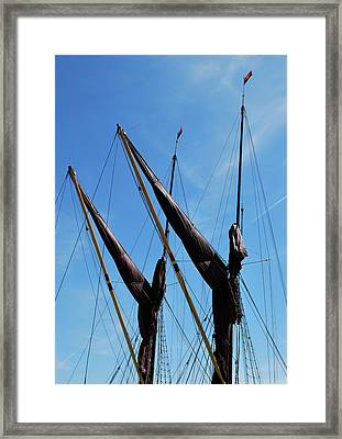 Twin Mast Framed Print by Terence Davis
