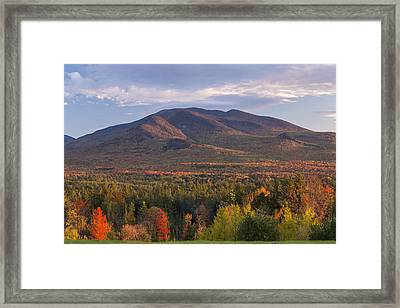 Twin Mountain Autumn Sunset Framed Print