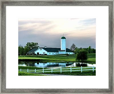 Twin Oaks Farm Framed Print
