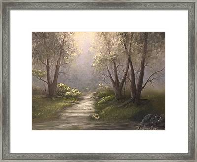 Twin Oaks  Framed Print