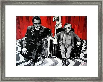 Twin Peaks Black Lodge Framed Print