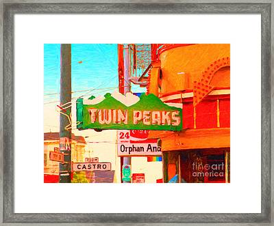 Twin Peaks Gay Bar In San Francisco . Painterly Style Framed Print by Wingsdomain Art and Photography