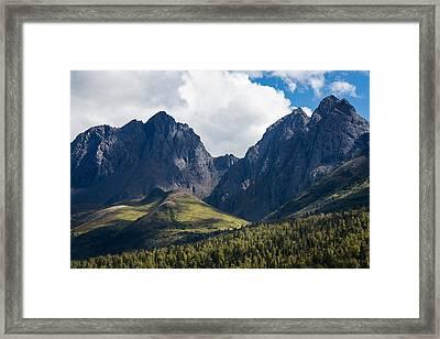 Twin Peaks In Mid-summer Framed Print