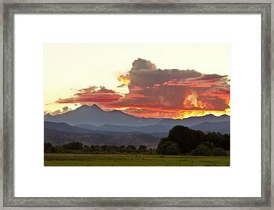 Twin Peaks Longs Meeker August Sunset 3 Framed Print by James BO  Insogna