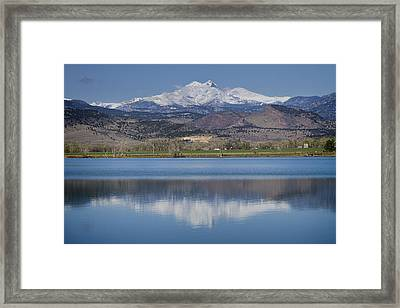 Twin Peaks Mccall Reservoir Reflection Framed Print by James BO  Insogna