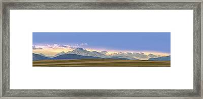 Twin Peaks Panorama View From The Agriculture Plains Framed Print