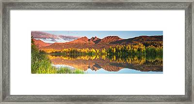 Twin Peaks Reflected Framed Print